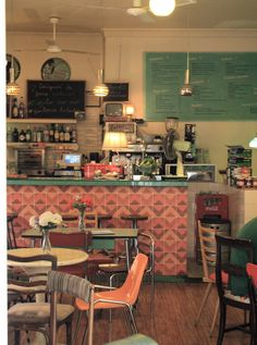 this is a cute, cute, cute little diner. Cluttered, but thats what makes it so unique!