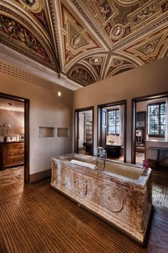05-dez-banheiros-de-hoteis-que-sao-incriveis  Suíte Affresco, no hotel Il Salviatino, em Florença, Itália