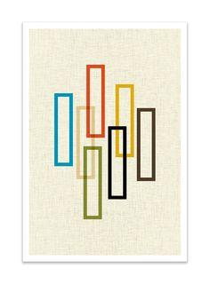 PILLAR Giclee Print Mid Century Modern Danish Modern by Thedor
