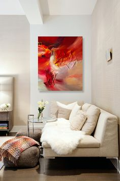Large abstract painting by Dan Bunea Passionate love by danbunea