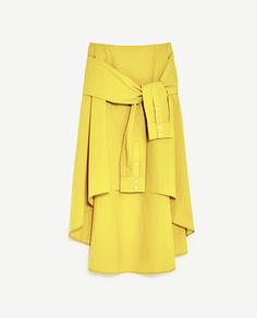 Image 8 of MIDI SKIRT WITH SLEEVE DETAIL from Zara
