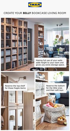 Toy Storage Living Room Awesome Make Way for Storage In Your Living Room Entrance White Storage Bench, Storage Bench With Cushion, Wood Storage Box, Storage Ideas, Book Storage, Living Room Toy Storage, Storage Spaces, Billy Bookcase With Doors, Billy Bookcases