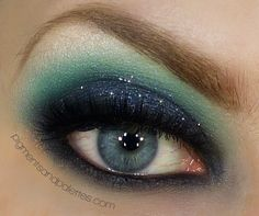 Song of the Siren by Meredith Jessica on Makeup Geek - another pretty look in blues - lots of uses for my new NYX palette I just got