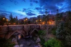Disney Parks After Dark: Bridge to Beast's Castle in New Fantasyland I love this part of magic kingdom.