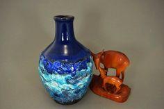 Blaue Vintage Vase / Marei / Fat Lava | West Germany | WGP | 70er von ShabbRockRepublic auf Etsy