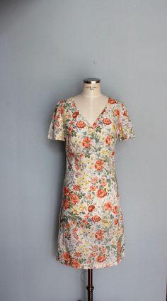 Dirndl Dress, Country Chic, Cotton Dresses, Vintage Dresses, Cotton Fabric, Floral Prints, High Neck Dress, Short Sleeve Dresses, Summer Dresses