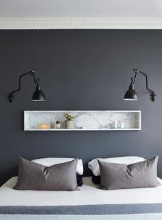 Ideas For House Decor Modern Bedroom Texture Gray Bedroom, Trendy Bedroom, Home Bedroom, Bedroom Wall, Bedroom Decor, Bedrooms, Bedroom Furniture, Contemporary Bedroom, Modern Bedroom