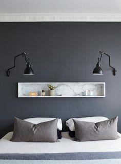 Chambre d'adulte contemporaine, moderne, cosy. Trouvez des idées de#commode, d'#étagères avec http://jaime.mobibam.com/chambre/chambre-adulte/, #meuble sur-mesure.