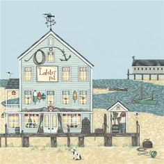 Greeting Cards » The Lobster Pot Greetings Card » The Lobster Pot Greetings Card - Sally Swannell £2.05+£4.75pp