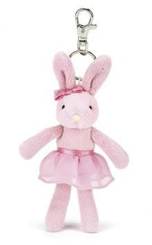 JellyCats useful Ballerina Bunny, Pink Tutu Lulu Keyring.