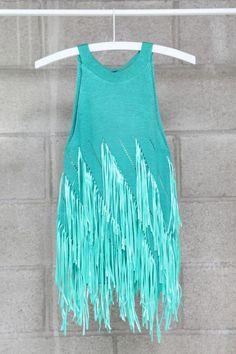 Green Shredded Knit Top, Mikkat Market