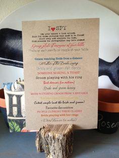 Wedding Reception  I SPY GAME PDF design by MsPennyLaneNWC on Etsy, $25.00
