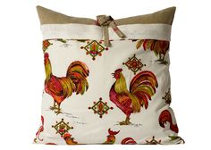 Vintage French Rooster Pillow