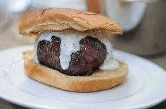 Lamb Burgers with Cilantro Yogurt , a recipe on Food52