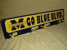 University of Michigan coat rack hangup blue convo by tomshangups, $36.00