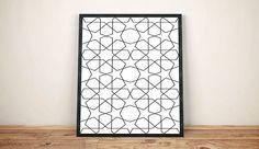 Geometric Wall Art Art Print Printable artworks Black and