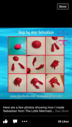 Sebastian little mermaid topper tutorial