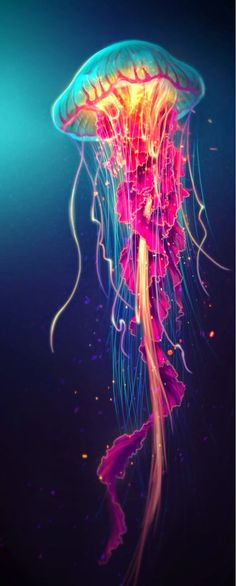 Amazing colors in this Jellyfish Art