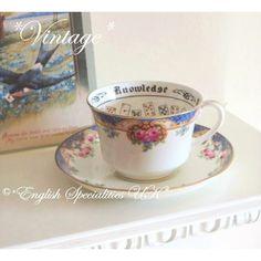 - イギリス雑貨と紅茶とハーブティーのお店 English Specialities エインズレイ フォーチュンテリング カップ&ソーザー(ヴィンテージ) ★VINTAGE★AYNSLEY Fortune Telling Cup & Saucer