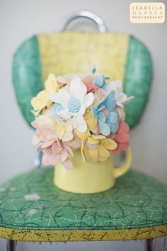 The Little Lucy Bouquet  Daisy Bouquet  Felt por munclefredart, $140.00