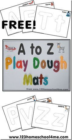 Free Printable A to Z Play Dough Mats - Money Saving Mom®️️️️