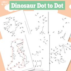 Dinosaur Dot to Dot! Let's have some fun with the dinosaurs! Lets count with these free printable dinosaur dot to dots. This pack has 6 pages!