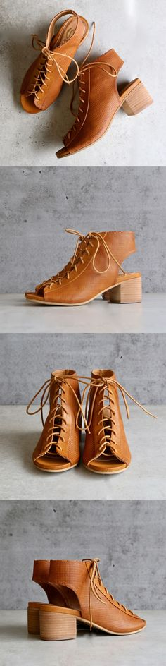 Beautifully constructed. Padded insoles. Lace up front. Low chunky heel. Chic and trendy for the upcoming spring/summer season. Imported; by Sbicca.