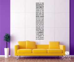 Wall Decal Quote Text ee cummings I Carry Your Heart - Vinyl Subway Art. $55.00, via Etsy.
