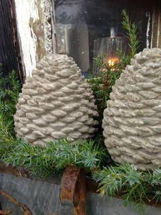 Mrs. Pedersen's garden: Concrete pinecones