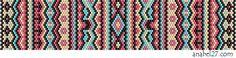 """Схема браслета """"Африканские мотивы"""" - мозаичное плетение / peyote pattern"""