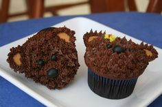 picture of bear cupcakes   Teddy bear cupcakes created for a birthday party held at Build-A-Bear ...