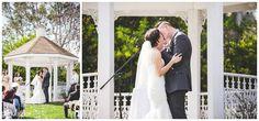 Wedding: John & Victoria // San Dieguito County Park, Del Mar, CA » Analisa Joy Photography // first kiss as husband and wife!