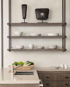 La Quinta kitchen#leveronedesign#lisaromereinphotography#customcabinetry#laquinta#heathceramics