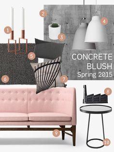 concrete grey and pink – Hazir Site Room, Room Color Schemes, Bedroom Design, Home Decor, Living Room Interior, Pink Bedroom Decor, Interior Design Living Room, Interior Design Bedroom, Trendy Bedroom
