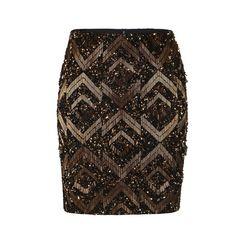 Panel High Waisted Mini Skirt ($138) ❤ liked on Polyvore