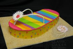 flip+flop+birthday+Cakes | Sculpted Cakes Gallery | Classic Cakes Carmel