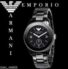 EMPORIO ARMANI CERAMICA Damen Uhr AR1422 Damenuhr Keramik schwarz ORIGINAL NEU
