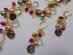 Fall 2013 Jewelry - gold, ruby, smoky quartz and green amethyst
