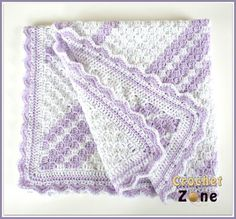 Lavender Baby Blanket Crochet Pattern | I like the soft lavender and the texture. It reminds me of Bavarian crochet, which I have yet to learn!