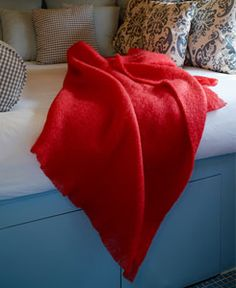Love this bright red vibrant throw. Will brighten up any winters gloom. Linen Drawer - for Mohair Blend Blanket Throws. Mohair Throw, Cotton Sheets, Beautiful Stories, Linen Bedding, Bean Bag Chair, Drawers, Colours, Throw Pillows, Blankets
