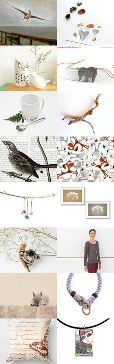 Gray and brown  by mira (pinki) krispil on Etsy--Pinned with TreasuryPin.com