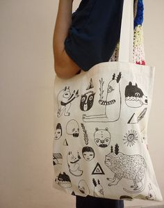Tote Bag by mirubrugmann on Etsy