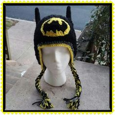 Made this batman hat for my aunt to give to her grandaughter