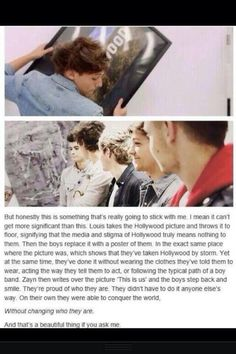 One Direction gets pretty deep...