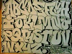 unique art graffiti alphabet letters