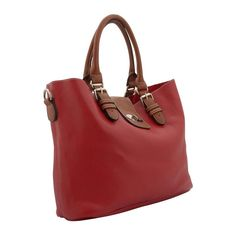 Kris Ana is a firm favorite with Red Readers as she offers great style at affordable prices.  This chic design with stunning detail, the Classic Buckle Tote from Kris-Ana boasts a high quality faux leather construction. Perfect for every day, the stylish tote has contrasting twin rolled top handles with silver-toned adjustable buckle detailing and adjustable, detachable shoulder strap. The tote's spacious interior is secured with flap and twist lock closure and offers room for the free ...