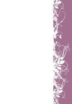 Free Printable White Floral  Purple Invitation