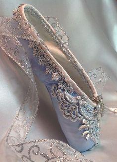 Blue Pointe shoes