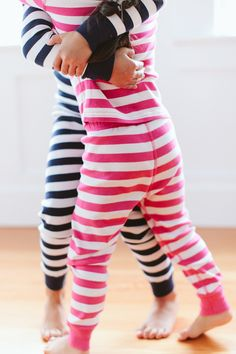 Kids Long John Pajamas In Pure Organic Cotton by Hanna Andersson in Bold Stripes