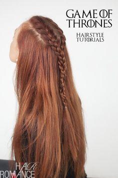 Sansa Stark (Game of Thrones) - French braid (ingevlochten) - kan waarschijnlijk ook voor kort haar!